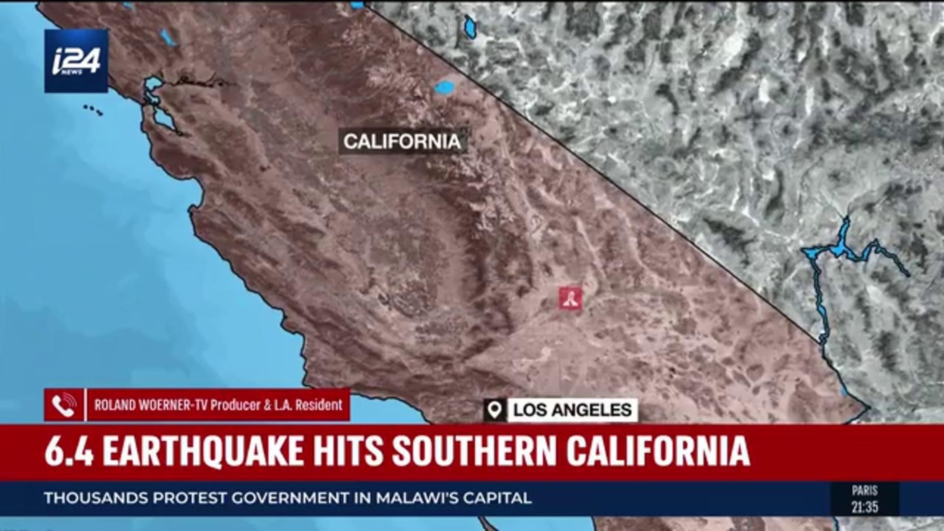 BREAKING NEWS   6 4 earthquake hits Southern California