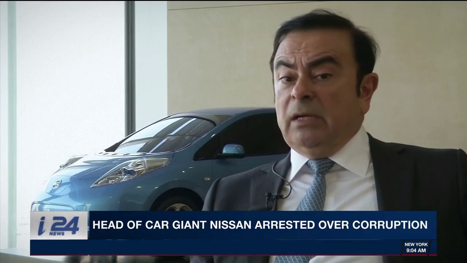 i24news desk | head of car giant nissan arrested over corruption