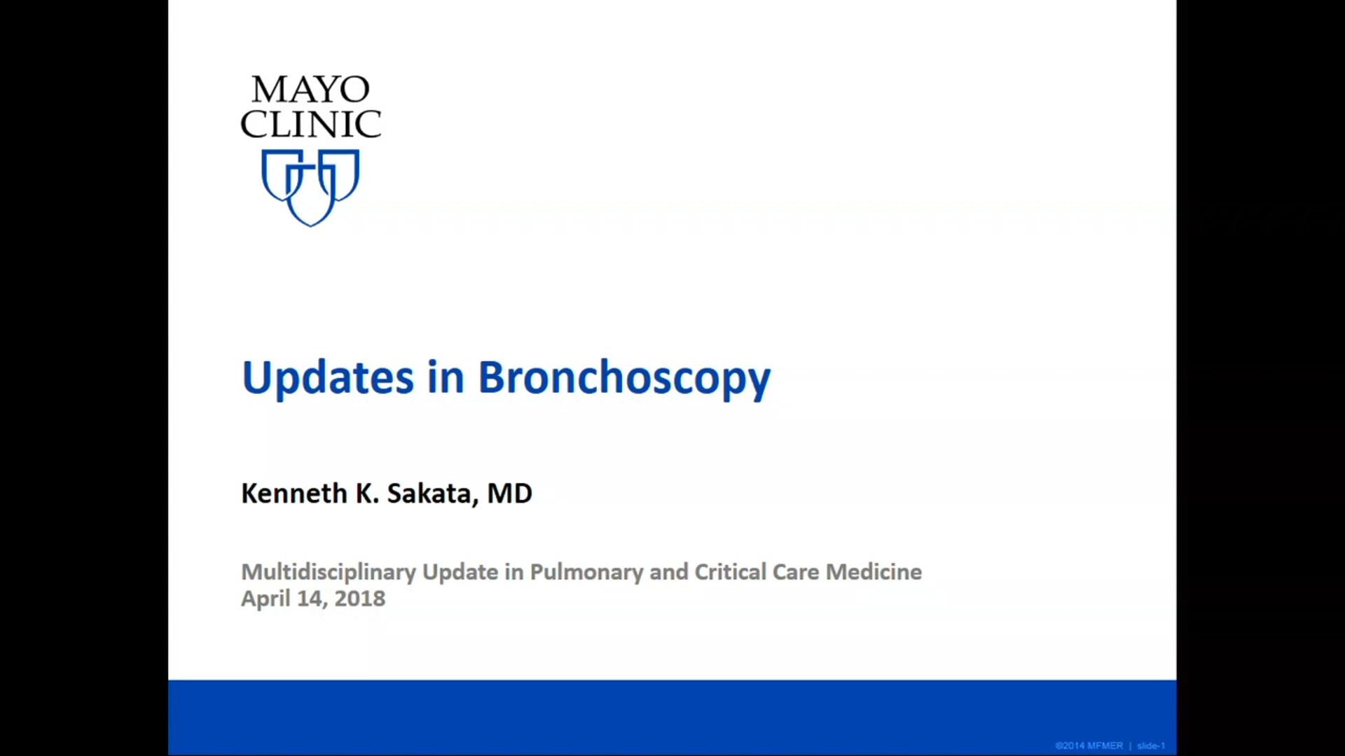 Update in Bronchoscopy (Audio) by Kenneth K  Sakata, MD | GIBLIB