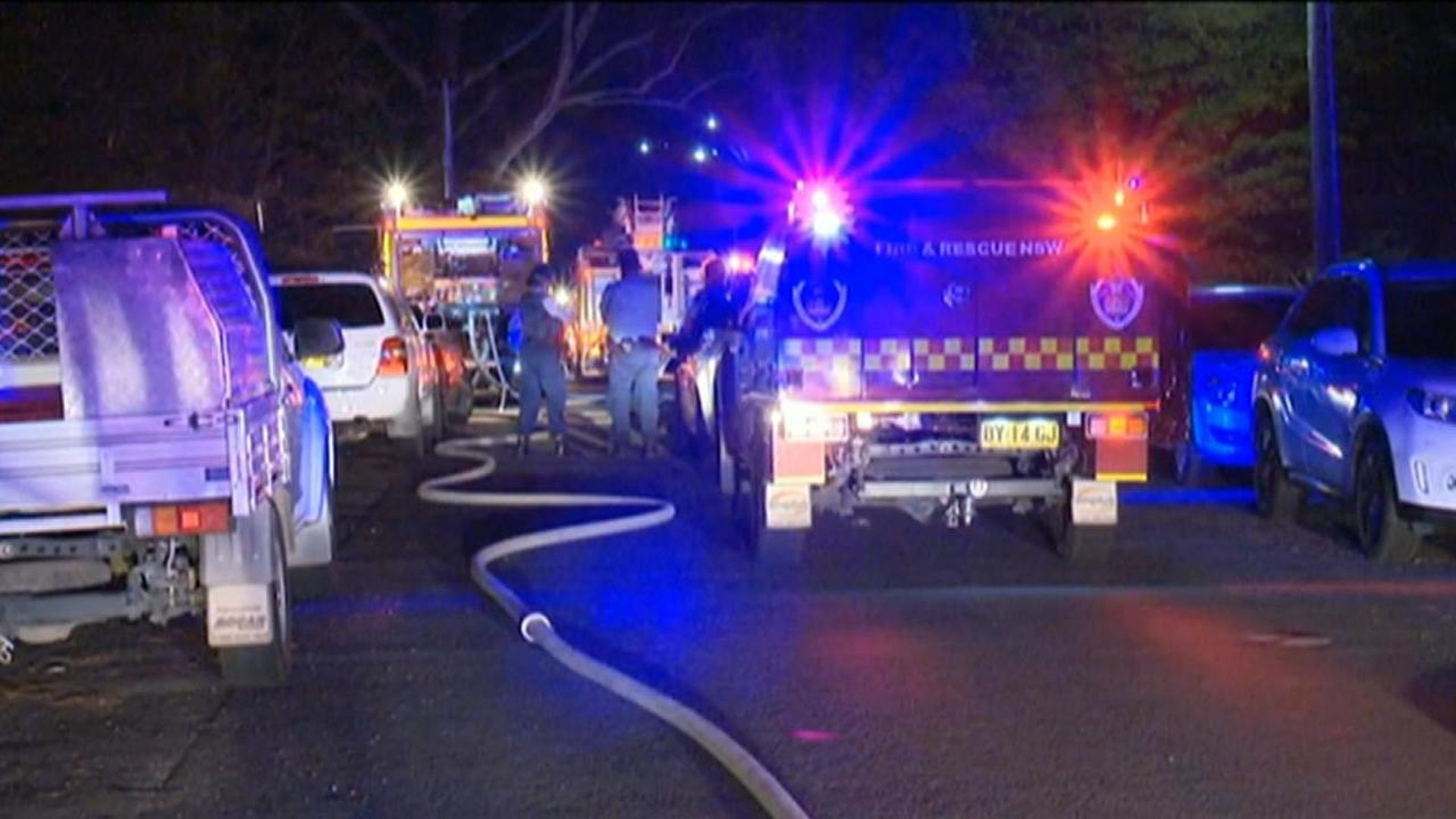 sydney residents forced to flee suspicious garage fire | sky news