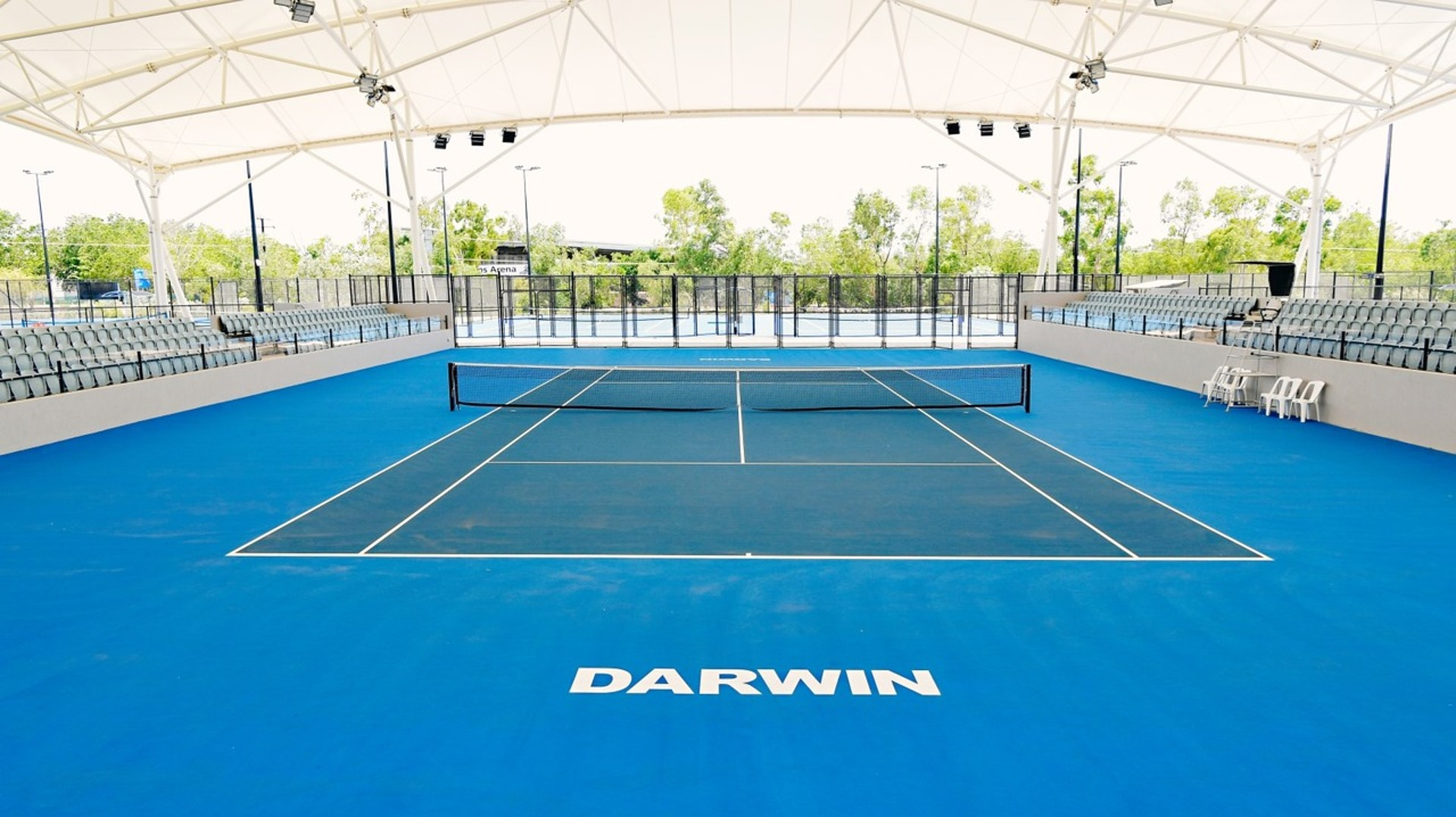 Darwin S 16 7 Million Tennis Centre Built On A Slope Sky News