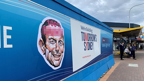 Offensive posters of Tony Abbott plastered across Warringah