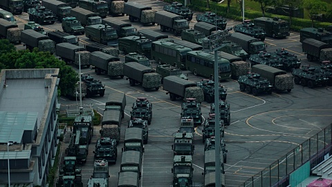 Chinese military continues amassing at Hong Kong border | Sky News Australia