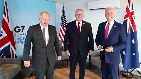 Trilateral talks with Biden and Johnson were 'really useful' for Australia   Sky News Australia