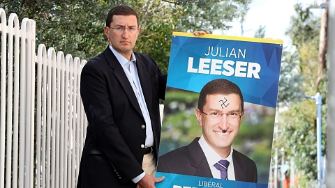 Jewish MP's campaign posters defaced with swastikas