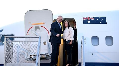 Scott Morrison en route to Japan for Trump meeting   Sky News Australia