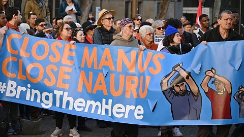 Thousands protest six years of offshore detention | Sky News Australia