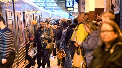 Footy fans left stranded due to trespasser bringing trains to a halt | Sky News Australia