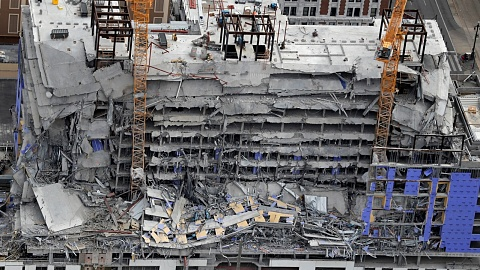 Two dead, one missing after hotel collapse in US | Sky News Australia