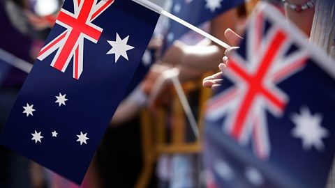 NSW Governor David Hurley leads Sydney Anzac Day March