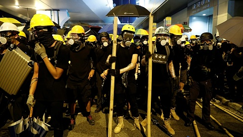 Hong Kong police arrest five over violent attacks on protestors | Sky News Australia