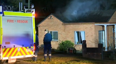Home damaged by fire in Sydney's west | Sky News Australia
