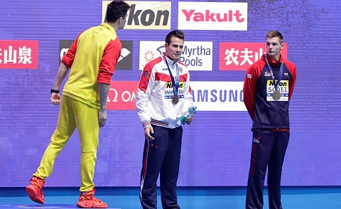Second swimmer protests Sun Yang at World Championships   Sky News Australia