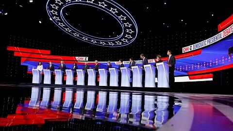 Candidates lock horns in fourth US Democratic debate | Sky News Australia