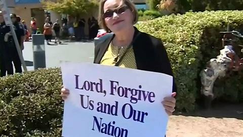 California straight pride event met by protestors | Sky News Australia
