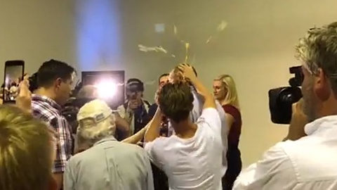 Fraser Anning hits back after being egged at Melbourne rally