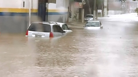 Parts of Brazil flooded after heavy rain | Sky News Australia