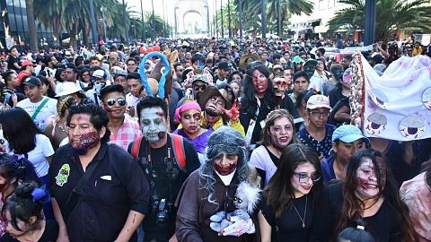 Mexico City holds annual Zombie Walk | Sky News Australia