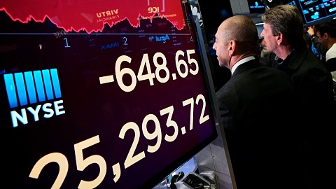 Wall Street stocks plummet amid US-China trade war escalations
