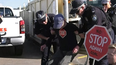 At least 10 arrested after Qld Adani protest | Sky News Australia
