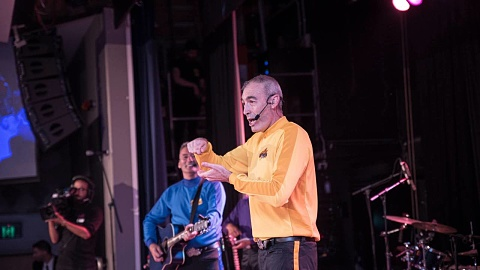 Original yellow Wiggle hospitalised after collapse during charity concert | Sky News Australia