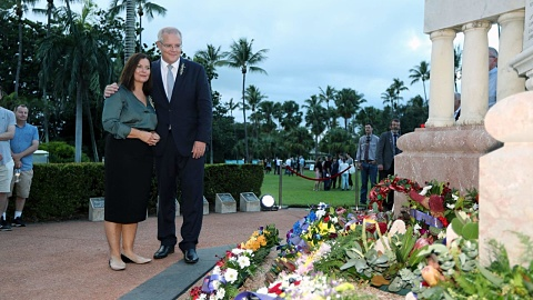 PM pauses campaign for Anzac Day commemorations in Townsville | Sky News Australia