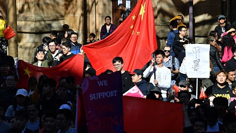 Activist heckled at pro-China protests in Sydney | Sky News Australia