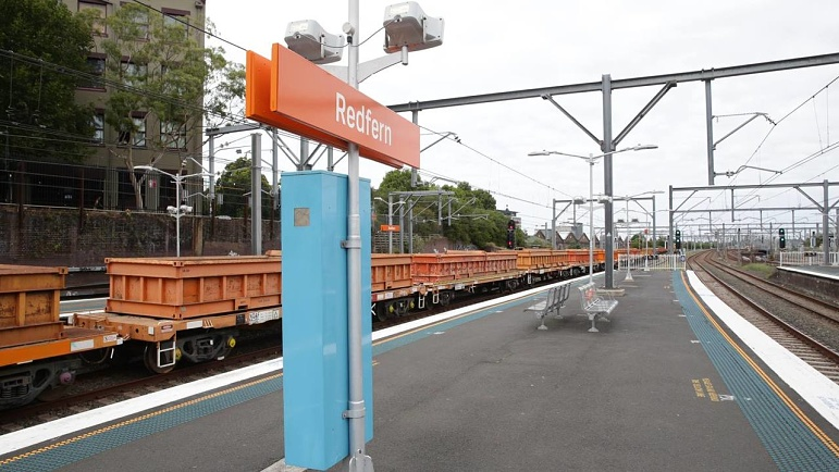 NSW Police searching for man accused of 'upskirting' at train