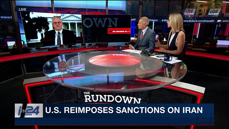 THE RUNDOWN   U S  reimposes sanctions on Iran   Monday, August 6th