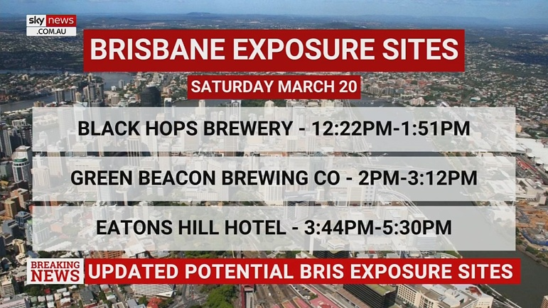 Qld Health Updates Potential Brisbane Covid Exposure Sites Sky News Australia